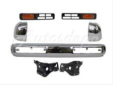 FRONT BUMPER CENTER END CHROME FINISHER PARK LAMP BRACKET