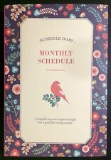 Monthly Schedule Journal - Kawaii Korean Planner - Cute diary Agenda Organizer