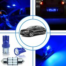 9x Pure Blue LED Interior Light Package Kit For Honda Accord&Coupe Sedan 2013-up