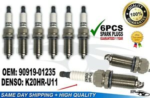 6 PCS 90919-01235 3381 K20HR-U11 Spark Plugs Fits FJ CRUISER TACOMA 4RUNNER.