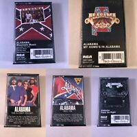 Alabama Rock Band Cassette Tapes Lot Of 5 Country Rock And Roll
