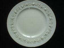 WEDGWOOD WHITE QUEENS WARE EMBOSSED GRAPEVINE 10 3/4 inch Plate 11U34