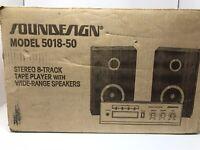 Stunning! NEW 1979 SOUNDESIGN Eight 8-Track Player Model 5018-50 Vintage NOS NIB