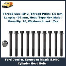 Mazda G6 Bravo B2600 Ford Courier Head Bolt Kit 2.6L also FE 2.0L