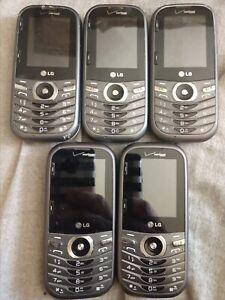 Lot of 5 LG Cosmos 3 LG-VN251S Gray/Black Verizon Wireless Slider Cell Phone