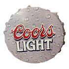 Coors Light Rare Bottle Cap Sign Large Vintage 2000 Beer Lager Tin Metal Silver