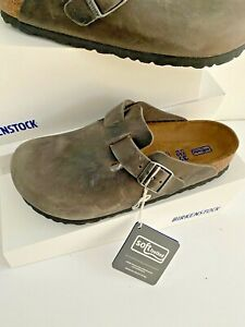 Birkenstock -Boston- Soft Footbed - Iron oiled leather