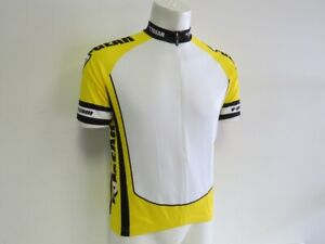 Verge Men's XS Short Sleeve Cycling Jersey Yellow/White New