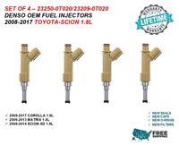 Genuine Denso Set Of 4 Fuel Injectors For 2009-2012 Toyota Matrix 1.8L I4