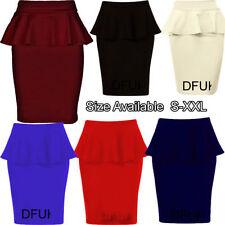 Faldas de mujer por la rodilla de poliéster