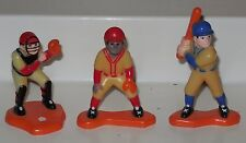 Vintage Wilton Baseball Player Cake Topper Lot of 3 Catcher Hitter and Fielder