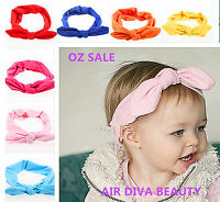 Girls Baby Kids Retro Ear Bow bunny Party Headband Hair head band bandana PROP