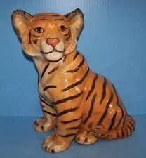 RARE MARWAL Pottery LARGE Orange TIGER CUB Vintage EXCELLENT CONDITION