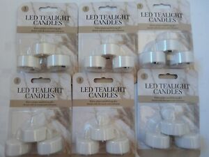18 Led Flickering Tealights Batteries included/Wedding/Party/Ornament/Table Deco