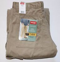 Wrangler Men's Fleece Lined Cargo Pants Khaki All Men's Sizes Free Shipping