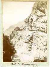 France, Route de Champagny-en-Vanoise (Savoie) Vintage citrate print. Vintage Fr