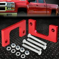 """FOR 2007-2017 SILVERADO/SIERRA 1500 RED 1/2""""FRONT LOW MOUNT LEVELING LIFT KIT"""