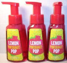 3 bottles Lemon Pomegranate Pop Gentle Foaming Hand Soap Bath Body Works