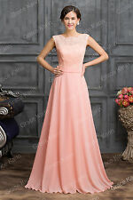 Chiffon Long Bridesmaid Evening Bridal LACE Coctail Prom Gown Dresses PLUS SIZE