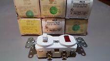 QTY: 6 - Pass & Seymour 692-WCombination Switch Single Pilot Light; 120/125 VAC