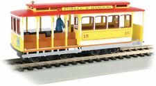Bachmann-Cable Car with Grip Man - Standard DC -- Powell & Mason Streets 15 (yel