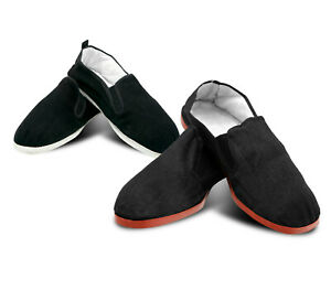 Kung Fu Tai Chi Shoes Martial Arts Rubber/Cotton Sole Slip On Ninja Slippers