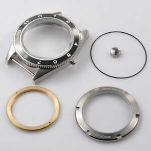 41mm Watch Case Ceramic Black Bezel Sapphire crystal Fit ETA 2824/2836 Movement