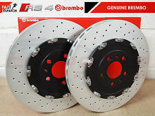 FOR AUDI RS4 QUATTRO B7 2005-2009 FRONT GENUINE BREMBO BRAKE DISCS SET 365mm OEM
