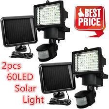 2PACK 60 LEDs Outdoor Garden Solar Motion Sensor Security Flood Light Spot Lamp@