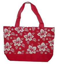 Brand New Red White Hawaiian Hibiscus Flower Floral  Tote Handbag Shoulder Bag