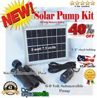 5W Solar Panel & Water Pump Kit Fountain Pool Garden Pond Submersible Industrial