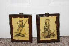 2 Vintage Hummel Wooden Wall Plaque 5X7