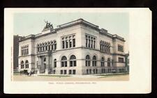 undivided public library building indianapolis indiana postcard