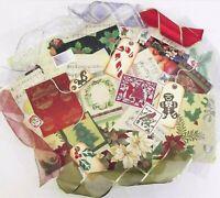 Junk Journal Ephemera Huge Lot VTG Christmas Holiday Craft Mixed Media 50+Pcs