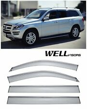 For 13-UP MB GL-Class WellVisors Side Window Delfectors Visors W/ Chrome Trim