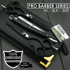 Professional Barber HairCutting Thinning Scissors Set Shears With Straight Razor