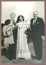 Michel Simon et le PDG AIR FRANCE à TAHITI en Mai 1960 (voyage inaugural) 18x13