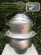THAI STEAMER AND STICKY RICE STEAMING POT CROCODILE BRAND, FREE..RICE LADLE!!