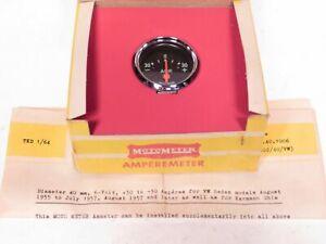 40mm 6 Volt Ammeter MotoMeter Brand Fits VW Beetle Ghia & Porsche 356 15.40.1006