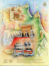 San Marino 2018 MNH UNESCO Heritage Mount Titano 3v M/S Architecture Stamps