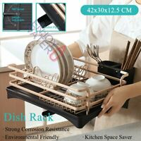 Kitchen Storage Dish Drying Drainer Rack Organizer Dishrack Knife Holder 1 Tier