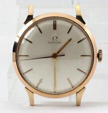 Clásico Omega reloj de hombre 18 CT oro rosa 33 MM 30.6 gramos esfera blanca