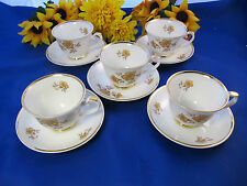 Arabia of Finland MYRNA Cups & Saucers Set of 4 ENGLAND