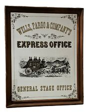 Tiffany & Co. Wells Fargo Stage Office Mirror EXPRESS OFFICE Stagecoach