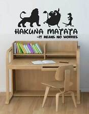 "Lion King Quote - Simba Timon Pumbaa Wall Art Decal Sticker ""hakuna matata"""