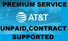 AT&T PREMIUM IPHONE UNLOCK SERVICE CLEAN, UNPAID, CONTRACT  SUPORTED