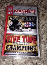Pittsburgh Steelers XL 40 Super Bowl 2 Magnet Pack NFL 5x Champions