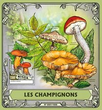 Niger 2016 MNH Mushrooms 1v S/S Champignons Fungi Stamps