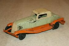 "RARE 1930's Girard / Marx 14"" Tin Wind Up Toy Car USA Electric Lights Very Good"