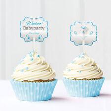 Baby Shower, Babyparty, Cupcake Deko, 12 Stück, junge, blau von Mia-Felice